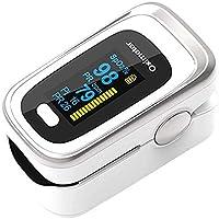 Oxímetro de Pulso de Dedo con Pantalla OLED, Monitor Digital de Frecuencia de Respiración RR, Frecuencia Cardíaca PR…