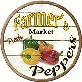 Smart Blonde Farmers Peppers Novelty Aluminium Metal Circular Sign C-607