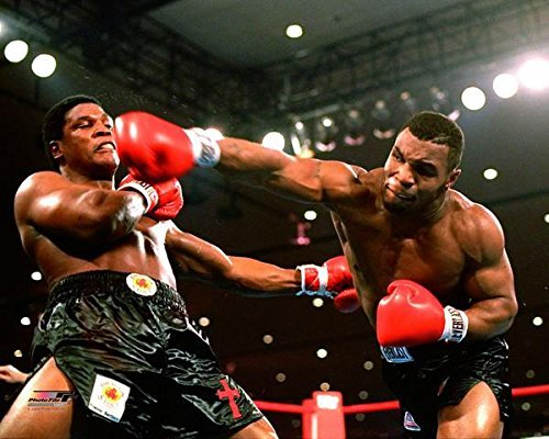 Mike Tyson - Officlal 8x10 Photo 1986 action