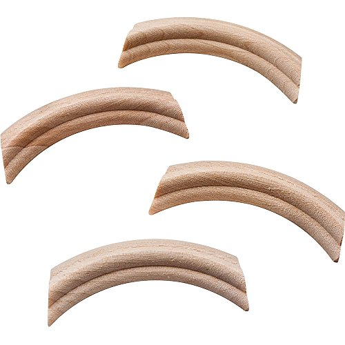 French Provincial Carved Wood Corners - Birch (4 per pack) - French Provincial Hardware