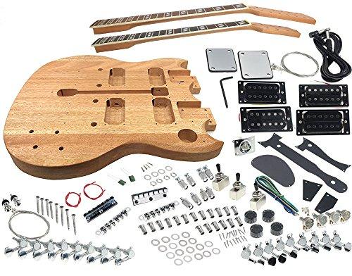 Solo DSGK-10 DIY Double Neck Electric Guitar Kit