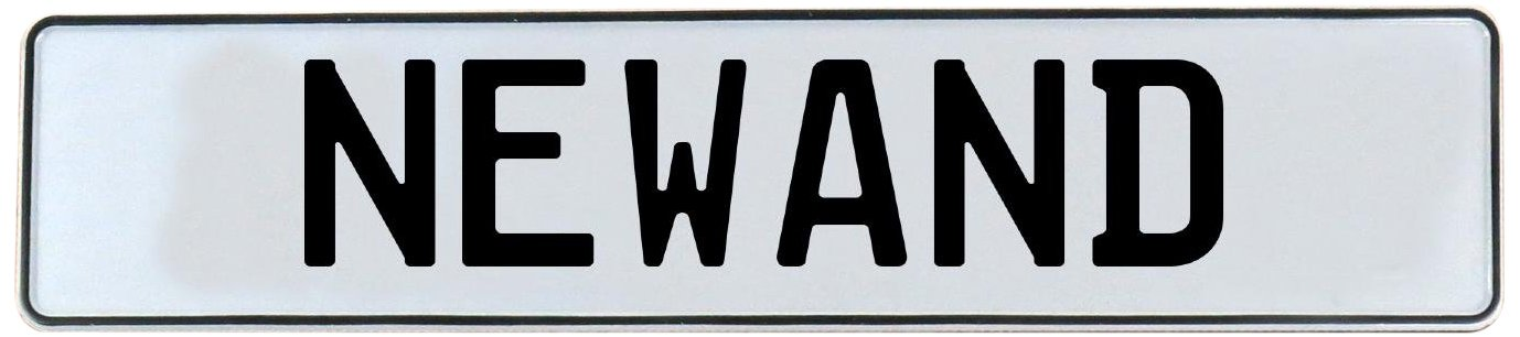 Newand White Stamped Aluminum Street Sign Mancave Vintage Parts 716355 Wall Art