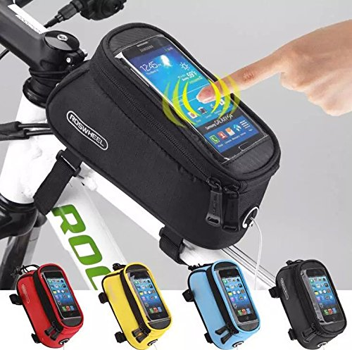 Coollooda Cycling Bike Bicycle Frame Pannier Front Tube Pouch Bag Mobile Phone Holder