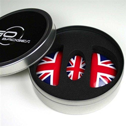 Mini Cooper, Cooper S Door Pull & Glove Box Button Union Jack Gen2 Clubman R55, Hardtop R56, Convertible R57, Coupe R58, Roadster R59