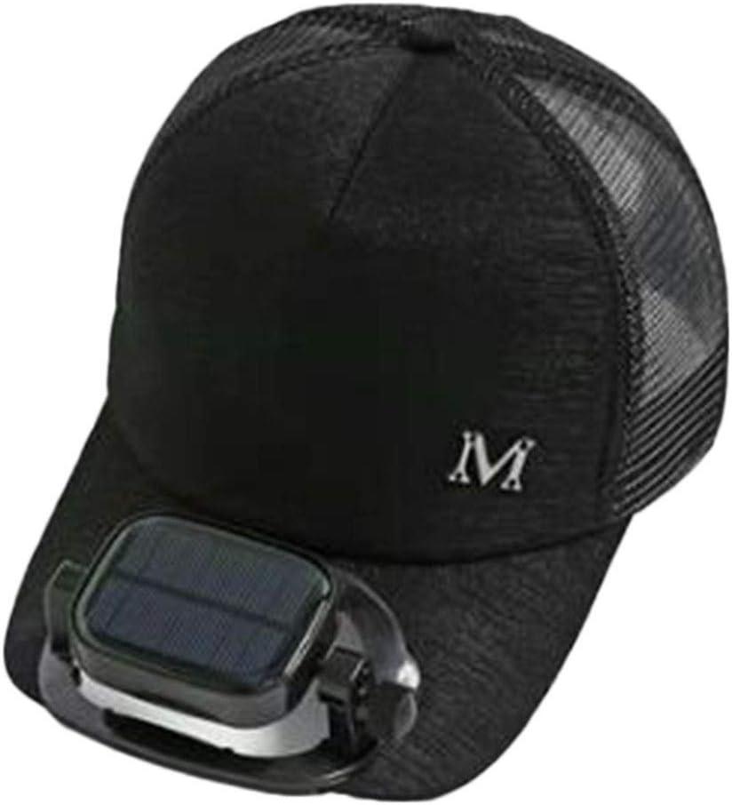 ANHPI con Ventilador Solar Sombrero para el Sol Verano Gorra de ...