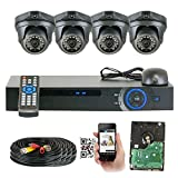 GW Security 4 Channel HD 2.0MP 1080P HD Outdoor/ Indoor Security Camera System with Pre-Installed 1TB Hard Drive – High Resolution Long Distance Transmit Range (Dome cameras) Review