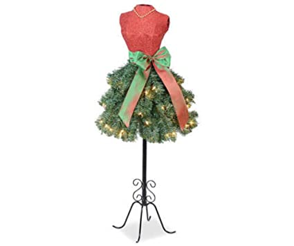 25cf1e9aabd6 Image Unavailable. Image not available for. Color: Prime Holiday  Celebrations Merry Christmas Dress Form Tree ...