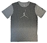 Nike Air Jordan Big Boys Jumpman Cotton Short Sleeve Tee Shirt (Carbon Heather, Medium)