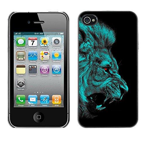 Stuss Case / Coque Étui Housse de protection - Lion Angry Red Eyes Vampire Animal Cat Jungle - Apple Iphone 4 / 4S