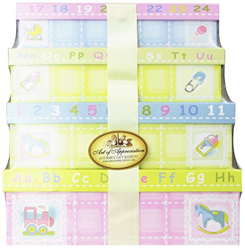 Art of Appreciation Gift Baskets Welcome Little One New Baby Layette Gift Tower, Girl
