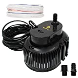 8. EDOU 850 GPH Swimming Pool Cover Pump Above Ground,Including 16' Drainage Hose and 3 Adapters,Ideal for Water Removal,Black