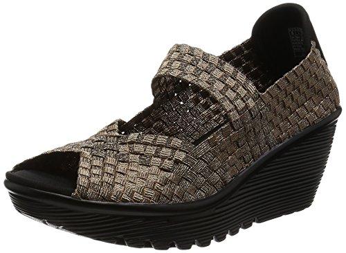 Skechers Cali Weave Parallel It Be Wedge Sandal Marron