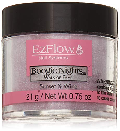 EZ Flow Walk of Fame Glitter Sunset and Wine False Nails, 0.75 Ounce (Ounce Wine 0.75)