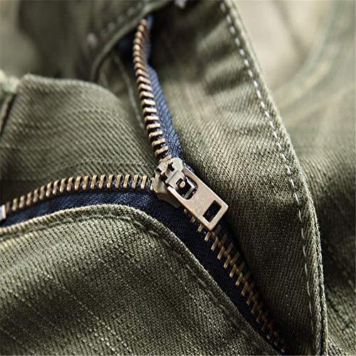 Skinny Jeans Jean Hommes Denim Coupe Vert Homme Pour En Vert Taille Slim couleur Déchiré Noir 31 Zgsjbmh Extensible 8dqxBwB