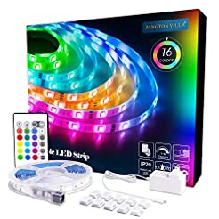 LED Strip Lights 16.4ft, RGB 5050 LEDs C...