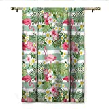 Best Eclipse Home Fashion Thermal Insulated Blackout Tie-up Window Shades - homehot Flamingo Tie Up Printed Blackout Curtain Flamingos Review