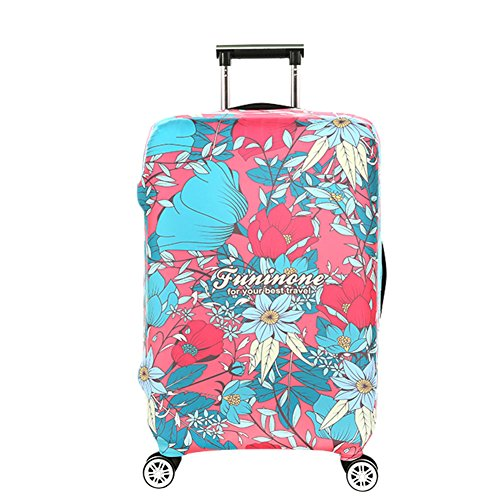 Meijunter Flowers Pattern Thick Elastic Luggage Suitcase Protective Cover 18 32