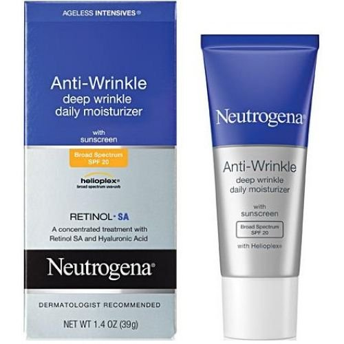 Neutrogena Ageless Intensives Anti Wrinkle Deep Wrinkle Daily Moisturizer, 1.4 Ounce - 12 per case.