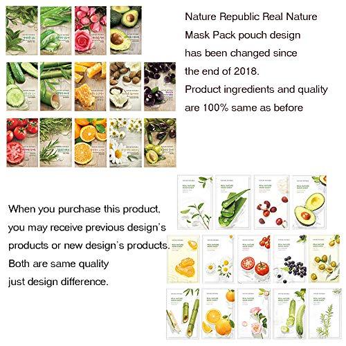 Nature Republic Real Nature Mask Sheet 10pcs Original Korean Mask Sheet