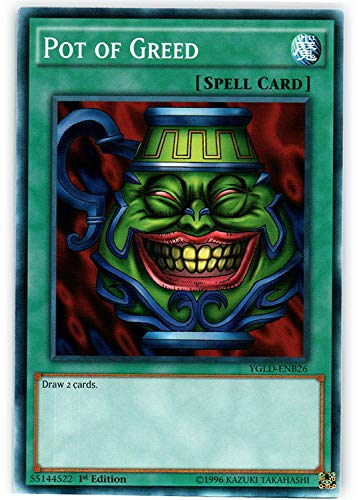 Yu-Gi-Oh! - Pot of Greed - YGLD-ENB26 - Common - Unlimited Edition - Yugi's Legendary Decks