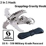Mutifunctional Gravity Hook-Folding Grappling...