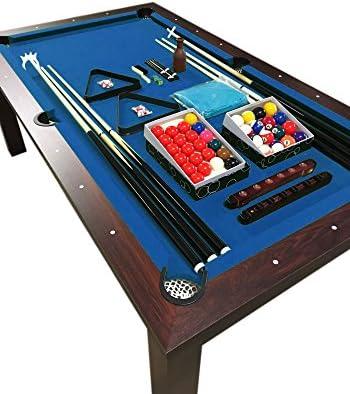 Simba Mesa de Billar 7 ft con Plan de Cobertura Incluido Carambola Mod. Blue Sky Nuevo embalado! Medición de 188 x 96 cm!: Amazon.es: Juguetes y juegos