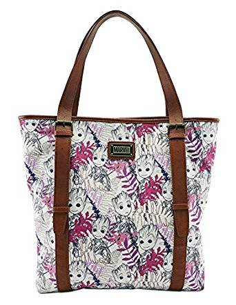 Image Unavailable. Image not available for. Color  Loungefly Marvel  Guardians Of The Galaxy Groot Leaves Tote Bag 27468ab2ed