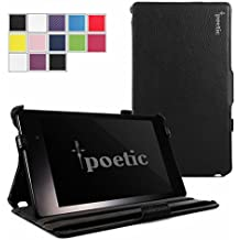 Google Nexus 7 2013 Case - Poetic Google Nexus 7 2013 Case [StrapBack Series] - [PU Leather] [View Stand] Protective Cover Case for Google Nexus 7 2nd Gen 2013 Black (3 Year Manufacturer Warranty From Poetic)
