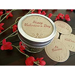 Valentines Day, Mason Jar Labels, Jar Toppers, Canning Jar Inserts, Happy Valentines Day, Stickers, Be Mine, Gift Tags