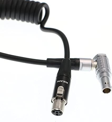 Right Angle Eonvic Tvlogic Power Cable for Arri RED Epic HD-SDI 4pin Mini XLR to 0B 2 pin Connector