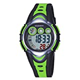 Kid Watch Multi Function Digital LED Sport 30M Waterproof Electronic Watches with Rubber Silicone Strap Wristwatch for Boy Girl Children Gift Green