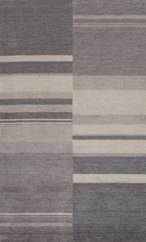 Momeni Rugs GRAMEGM-10CHR2030 Gramercy Collection, 100% Wool Hand Loomed Contemporary Area Rug, 2' x 3', Charcoal - Hand Loomed Charcoal