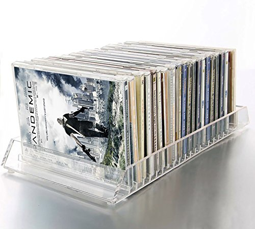 Decor Hut CD/DVD Acrylic Organizer Holds 20 Cd or dvds Easy Flip Tray (/ Cd Dvd Stand)