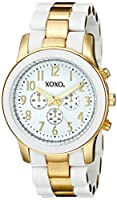 XOXO Women's XO5642 Gold and White Bracelet Watch