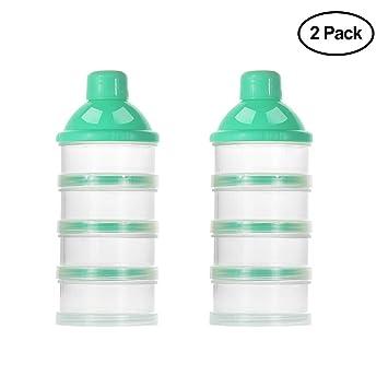Contenedor de leche en polvo con 4 compartimentos para Bebes