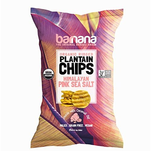Barnana Organic Plantain Chips - Himalayan Pink Salt - 5 Ounce - Barnana Salty, Crunchy, Thick Sliced Snack - Best Chip For Your Everyday Life - Cooked in Premium Coconut Oil (Fried Potato Chips)