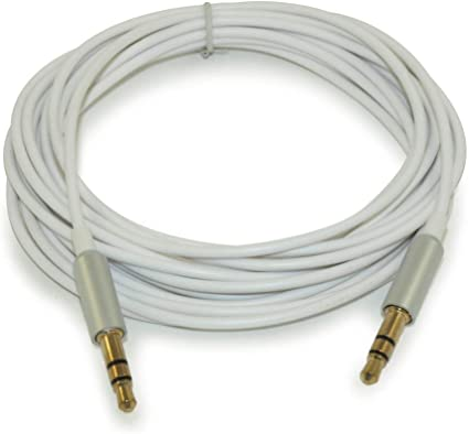 6ft 3.5mm SLIM ELITE METAL Mini-Stereo TRS Male to Male Cable  Gold Plated