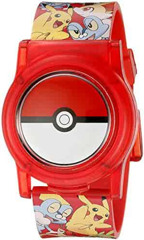 Pokemon Kids' POK3026 Digital Display Analog Quartz Multi-Color Watch