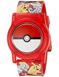 Pokemon pok3026 visualización Digital analógico de cuarzo reloj multicolor