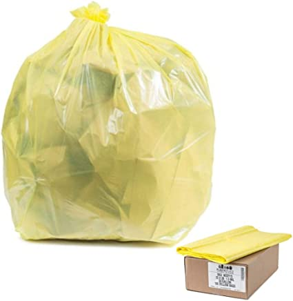 """1 Case 24/"""" X 31/"""" Clear High Density Trash Garbage Bags 80 Bags Per Case"""
