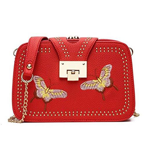 WiTa-Store - Bolso estilo bolera para mujer Weiss rojo