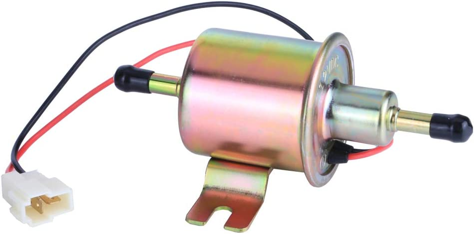 LAMDA 12V Electric Universal Fuel Pump Metal Solid Gas Diesel Inline Low Pressure HEP-02A