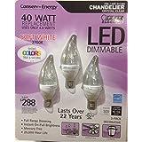 Feit LED 4.9 Watt LED Candelabra Light Bulbs 3-Pack (911482)