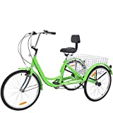 Adult Tricycles 7 Speed, Adult Trikes 24In 3 Wheel