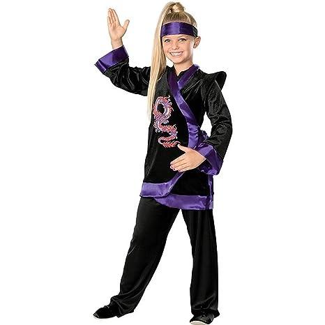 Rubies Costume Co Dragon Ninja Costume, Purple, Large, Purple, Large