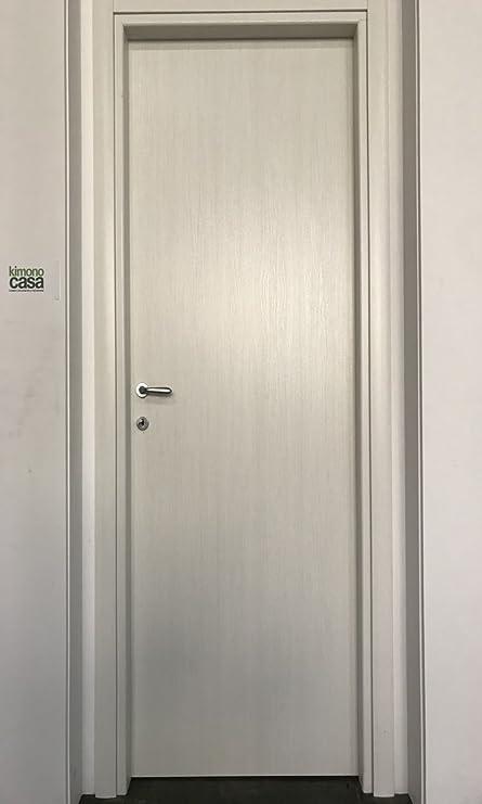 Ecodoor Porte Interne in Laminato Bianco Effetto Legno, Reversibili ...