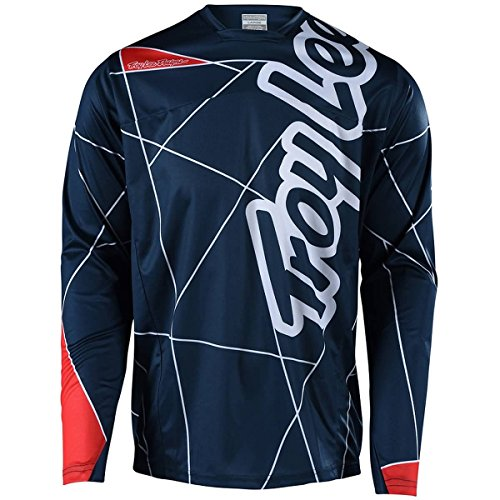 Troy Lee Designs Sprint Jersey - Boys' Metric Navy/Red, (Sprint Kids Bike)