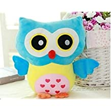 XY Stuffed Toy Plush Doll Lovely Owl Shaped Perfect Decorative Pillow(Blue)