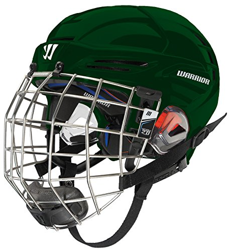 Warrior PX3HC5 Ice Hockey Players Helmet with Cage, Forest Green, Large
