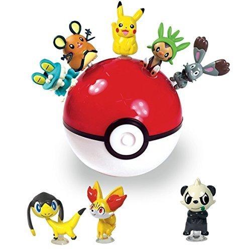 Pokemon Bank - Pokemon Suction Figure Monster Ball & Coin Bank (Random) : 3 Mini Figure Toys 1 Set